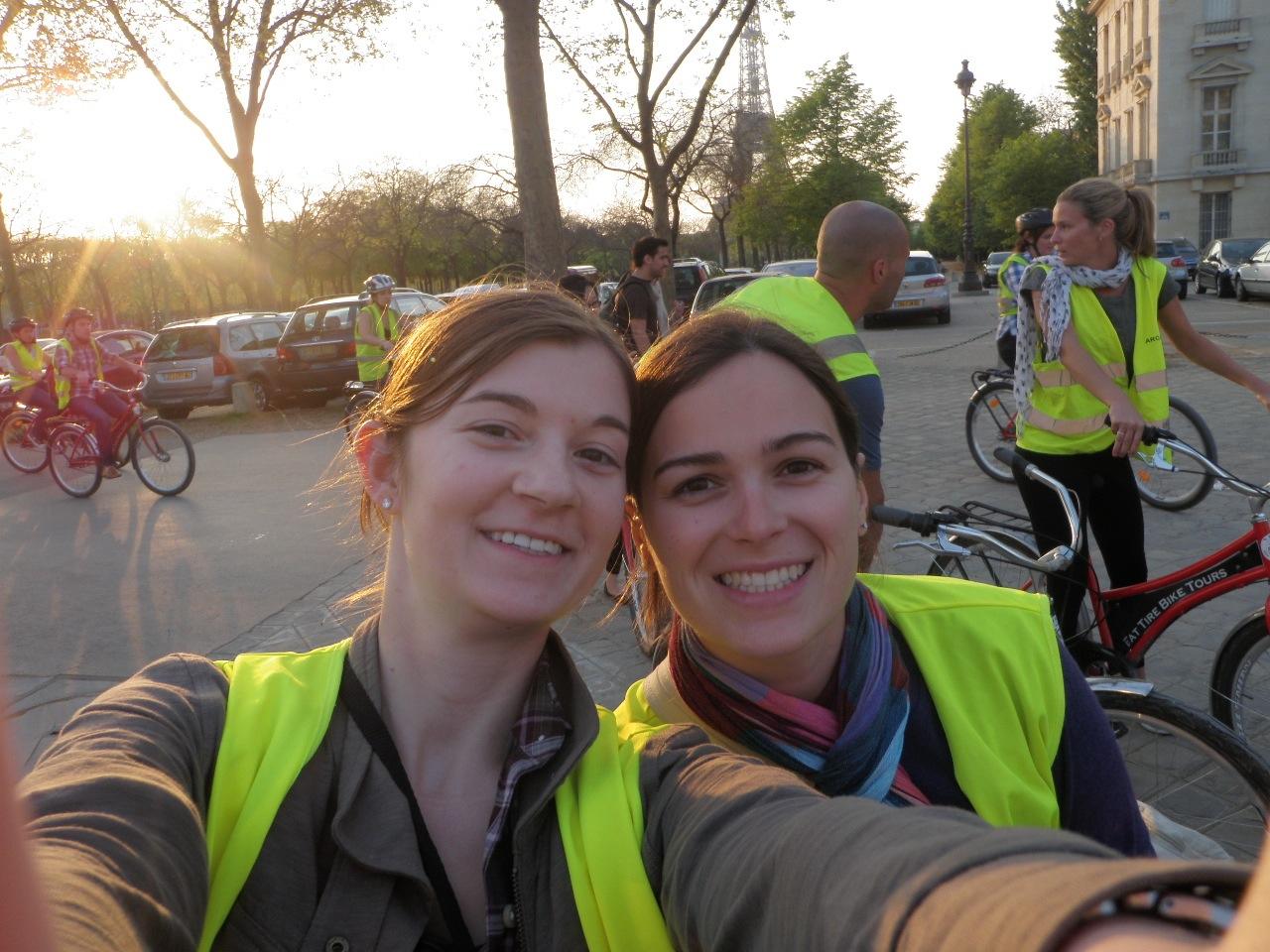 Heather and Elysia on the Bike Tour