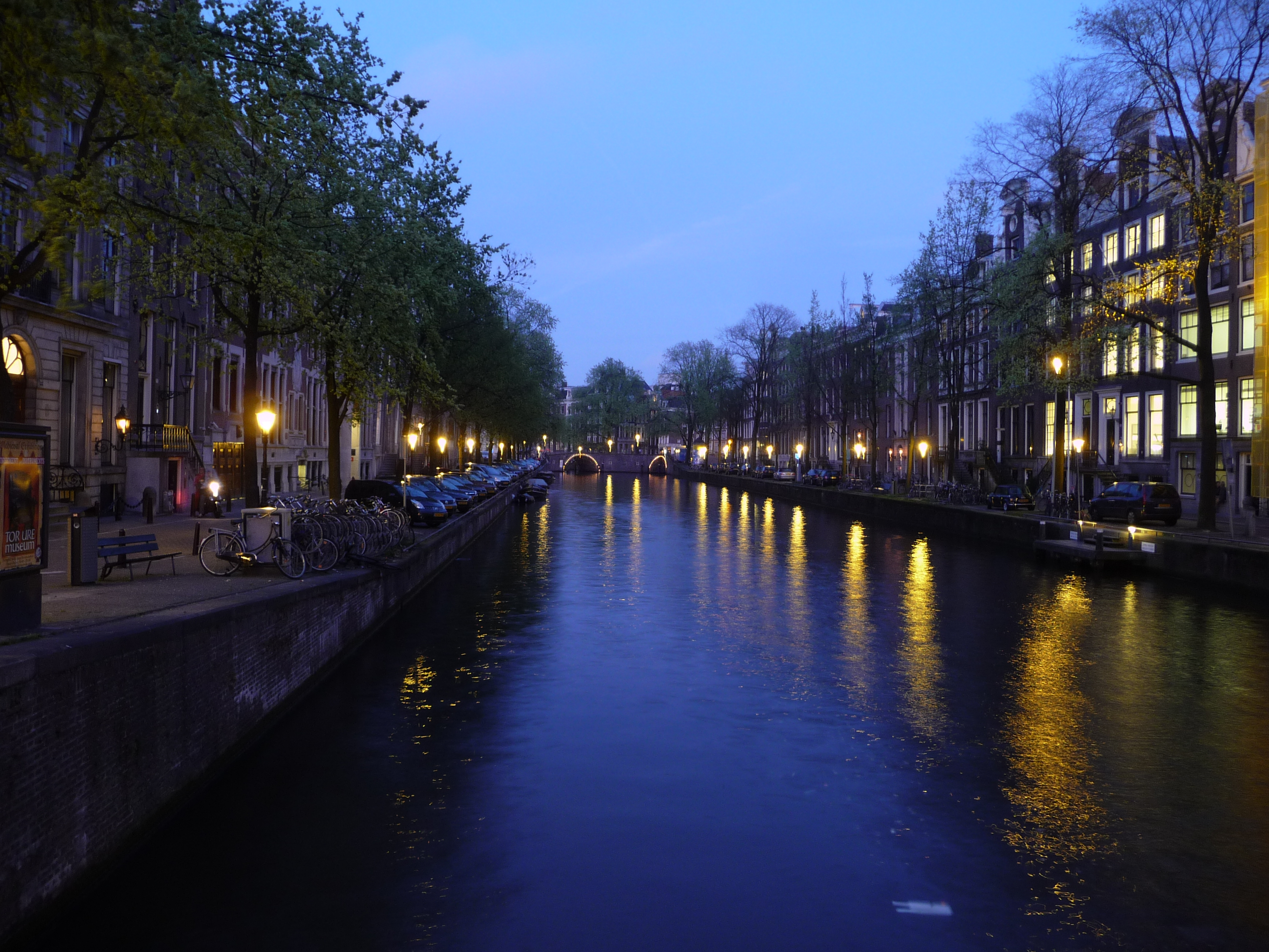 Amsterdam Canal at Night