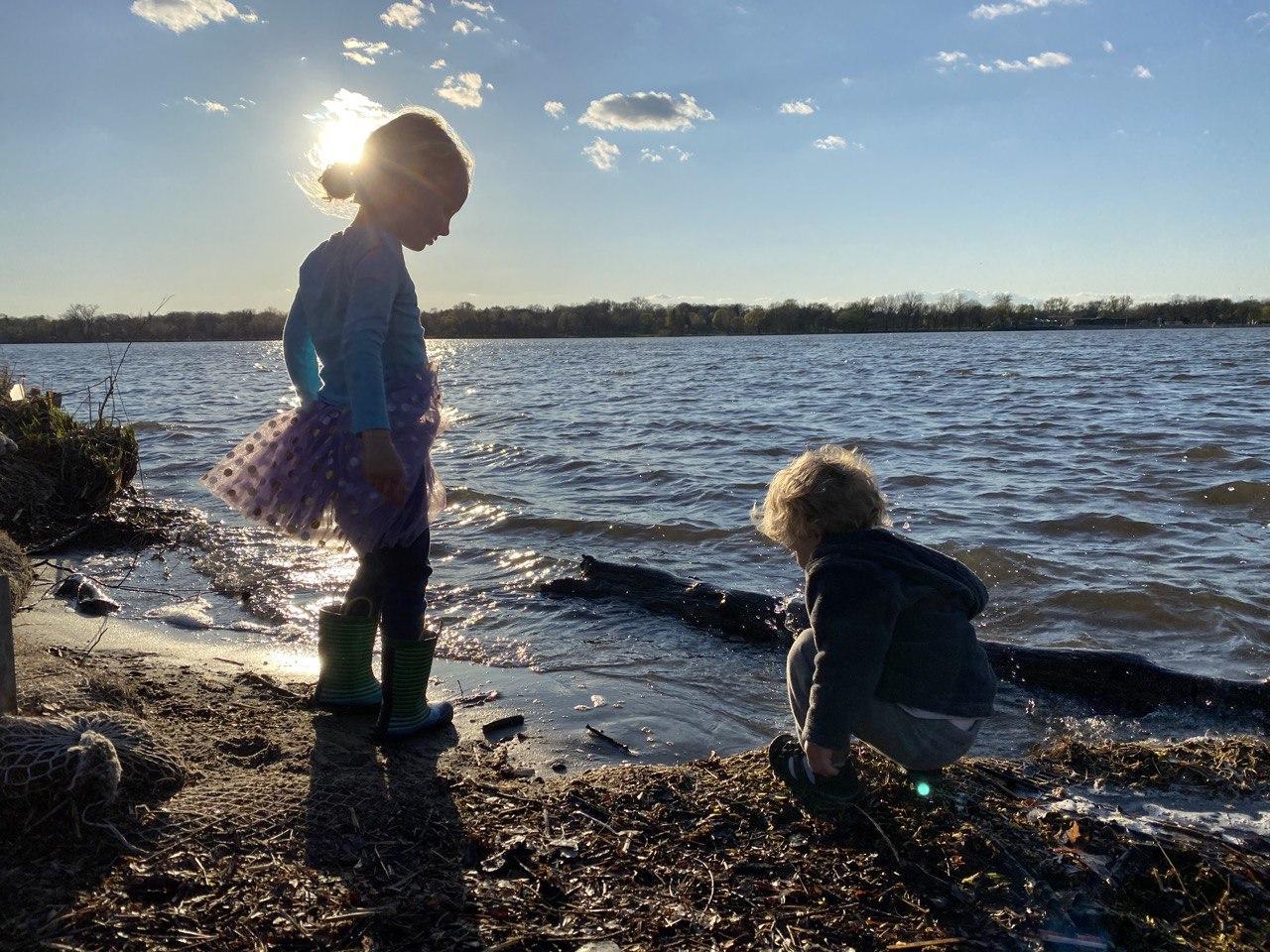 Brennan and Imogene at Lake Nokomis